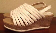New $235 Donald J Pliner FENN White Strappy Heels Shoes Sandals Womens 6.5 M