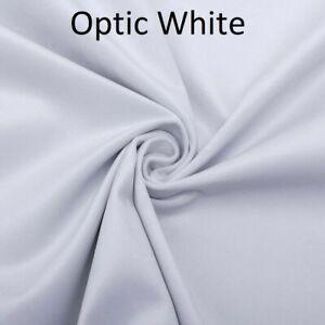 OPTIC WHITE Plush Plain FIRE RETARDANT Velvet Upholstery / Curtain Fabric