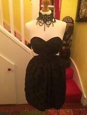 Stunning Ladies Dress Up Topshop Backless Netted Dress UK Size 10