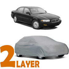 TRUE 2 LAYERS GRAY FITTED CAR COVER OUTDOOR WATER RESISTANT for BUICK LESABRE