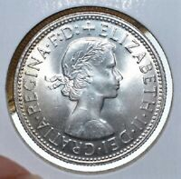 1954 AUSTRALIA ONE YEAR TYPE SILVER FLORIN COIN IN CHOICE UNCIRCULATED CONDITION