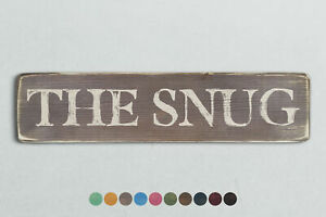 THE SNUG Vintage Style Wooden Sign. Shabby Chic Retro Home Gift