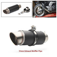 Motorcycle Exhaust Tail Pipe Aluminum Motorcycle 51mm Inlet Muffler Tailpipe Tip