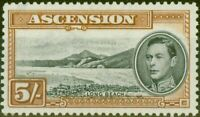 Ascension 1944 5s Black & Yellow-Brown SG46a P.13 V.F MNH