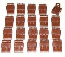Lego Lot of 20 New Reddish Brown Minifig Backpacks Non-Opening Parts