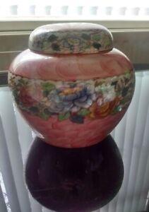 Maling Peony Rose Ginger Jar