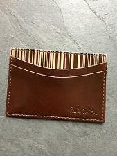 "Paul Smith marrón chocolate ""Láser "" porta tarjeta de crédito"