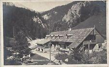 Steiermark: Gruß vom Schwabenbartl Fölz Fotokarte 1924 mit Halbierter Marke !!!