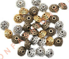 100pcs Rondelle Antique Tibet Silver Bicone Spacer Beads 6mm for Jewelry Making
