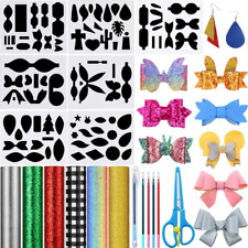 19 Pieces DIY Leather Earring Bow Tie Making Templates Set, 7 Sheet Reusable Ste