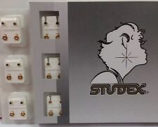 Studex Ear Piercing Gold Plated Multi Color Birthstone Studs 12 pairs R204Y