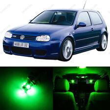 11 x Green LED Interior Light Package For 1999 - 2005 VW Golf GTi R32 Mk4
