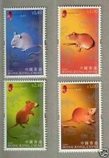 China Hong Kong 2008 New Year of Rat stamps Zodiac