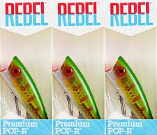 (LOT OF 3) REBEL PREMIUM POP-R P60EZBR-R BREAM 1/4OZ BM4210
