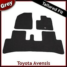 TOYOTA AVENSIS VERSO Mk2 2001-2006 Tailored Carpet Car Floor Mats GREY