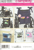 Wheelchair and Walker Accessories Bags Simplicity 2822 Sewing Pattern