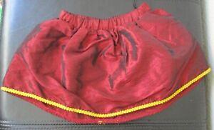 Build A Bear Workshop Burgundy Silk Skirt
