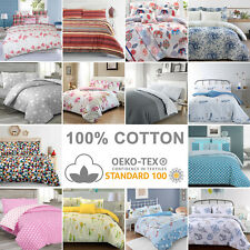 100% Cotton Deluxe Soft Quilt Duvet Cover with Pillowcase Bedding Bed Linens Set