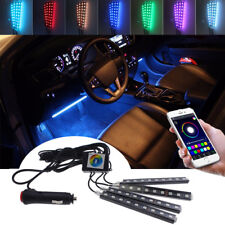 RGB APP Control LED Glow Interior Kit Under Dash Foot Floor Seat Accent Lights