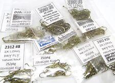 275) big dry fly hooks #10 #8 #6 Assortment (94840 2302 2312 5212 100) fly tying