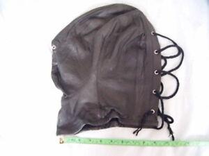 Leather mask hood