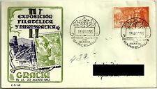 SOBRE PRIMER DÍA. IV EXPOSICIÓN FIL. Y NUM. GRACIA. 1953