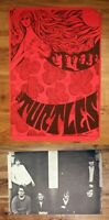 ORIGINAL The Turtles Blacklight POSTER 1967 vintage double-sided rare music