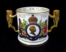 Paragon Fine Bone China - Loving Cup - 80th Birthday - Queen Mother.