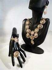 NECKLACE, EARRING, RING & BRACELET SET - GOLD PLATED - FREE UK P&P.........W0213