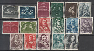 Netherlands - 1943/1944 Famous People complete set Sc# 245/261 - MNH  (8093)