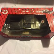 TEXACO 1957 CHEVY BEL AIR DIE CAST CHAIN DRIVEN PEDAL CAR GEARBOX LTD EDITION