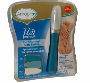 Pedi Perfect Electronic Nail Care System File, Buff and Shine Amope NEW SEALED