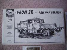 Planet Models 1:72 Fauno ZR-versión De Ferrocarril-Resina Modelo & Foto Grabado De Piezas