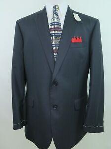 Brooks Brothers Mens Pure Wool Dark Blue Blazer Jacket Sport Coat 44 R NWT NEW