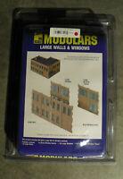 HO Scale Walthers Cornerstone Modulars Large Walls & Windows 3723 NIB