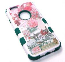 for iPhone 6 6s Vintage Flower Paris France Hard & Soft Hybrid Protective Case