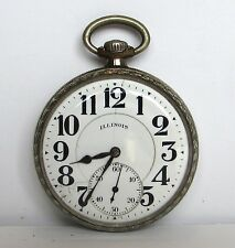 Antique A Lincoln ILLINOIS Pocket Watch US White gf Case 21j 16s  1918