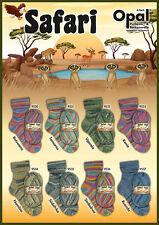 8 x 100 gr. Sockenwolle/Strumpfwolle Opal Safari   !!!Top Neuheit  !!!