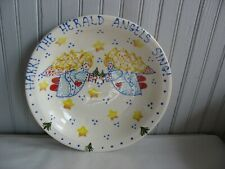 "Hark The Herald Angels Sing 12"" Pasta serving bowl Christmas by SARI pottery"