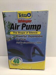 Tetra Whisper Air Pump The Shape Of Silence Powerful Dependable Air Flow 40gal