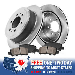 For Ford F150 Mark Lt 4X4 4WD 2WD Rear Brake Disc Rotors And Ceramic Pads