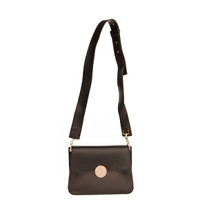 RRP €300 LIVIANA CONTI Leather Crossbody Bag Magnetic Flap Closure Made in Italy