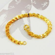 Pure Solid 24K Yellow Gold Bracelet/Perfect Phoenix Tail Link Chain Bracelet/ 5g