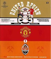 MANCHESTER UNITED v SHAKHTAR DONETSK Champions League 2013/14 MINT