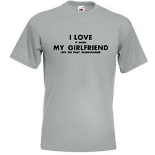 I LOVE IT WHEN MY GIRLFRIEND LETS ME PLAY WARHAMMER Mens Funny T Shirt Top Gift