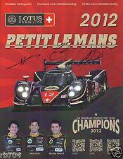 2012 Petit Le Mans Rebellion Lotus Lola LMP1 Hero card IMSA ALMS