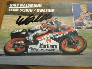 RALF WALDMANN TEAM SCHUH ZWAFINK AUTOGRAPHED SIGNED CARD HRC HONDA 1989?
