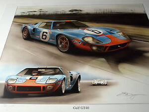 FORD GT40 JOHN WYER WILLMENT AUTOMOTIVE 1969 24 HEURES DU LE MANS JACKY ICKX