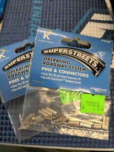 2 pk K-Line Superstreets 6-21289 Pins & Connectors, Lionel