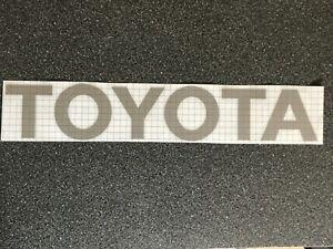 Toyota Pickup Hilux Tailgate Emblem Logo Vinyl Sticker Decal White Black Silver